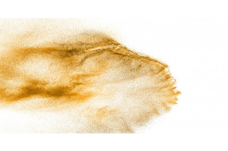 golden-sand-explosion-isolated-on-white-