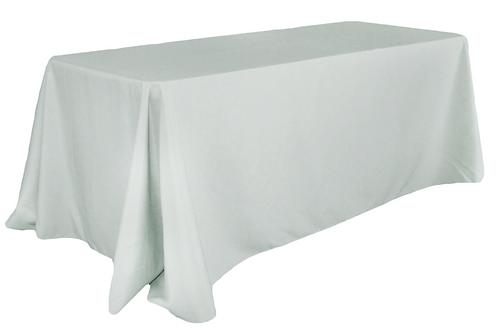 "90""x156 "" Grey Tablecloth"