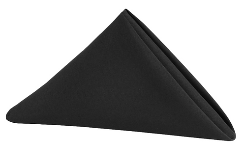 10 Pack Black Napkins