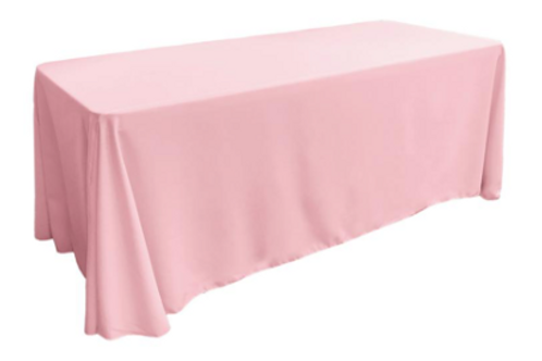 90x156 Pink Tablecloth