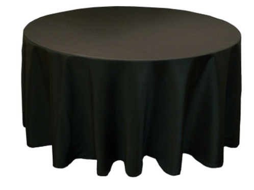 "120"" Black Tablecloth"