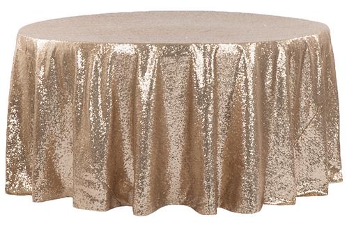 "120"" Gold Sequins Tablecloth"