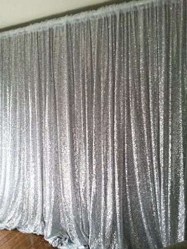 Silver Sequin Bacdrop Panel