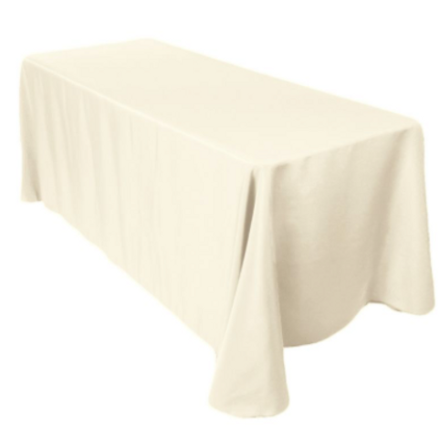 "90"" x156""Ivory Tablecloth"