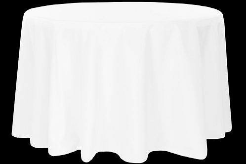 "120"" White Tablecloth"