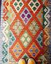 kilim laine coloré multicolore afghanist