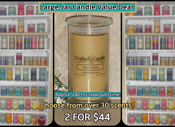 Large Jar Candle Value Deal~Choose your Scent