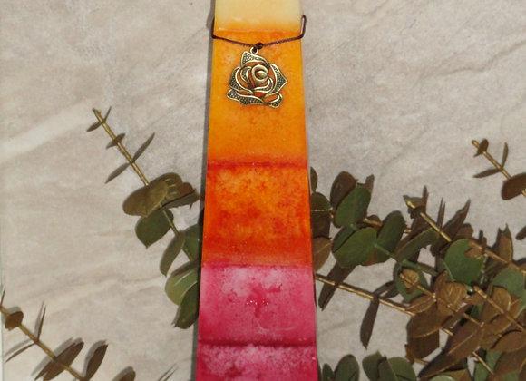 "13"" Sweet Orange/Cherry Bliss Tapered Square Pillar"