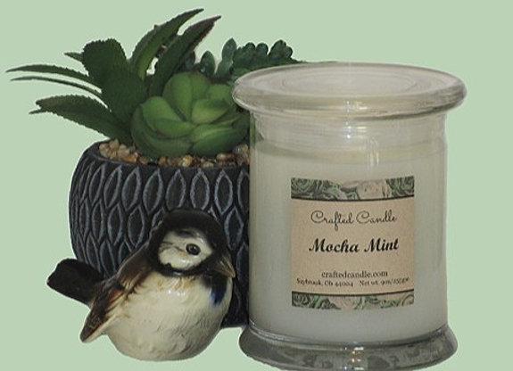 New Mocha Mint Jar Candle
