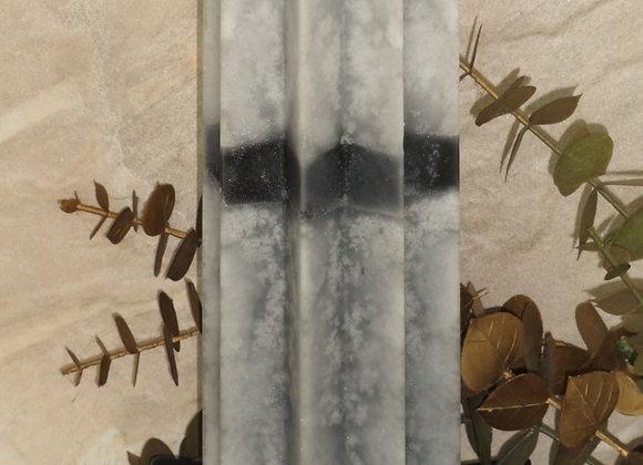 "9"" 8 Point Star Asian Sandalwood Pillar"