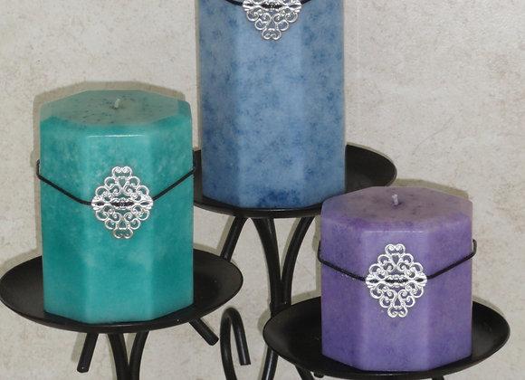 (Set of 3) Hexagon Mulberry Pillars