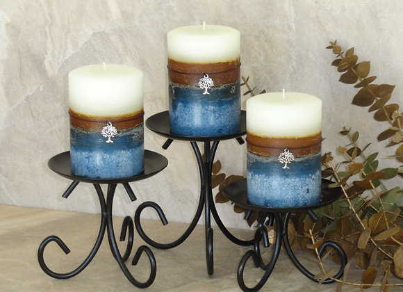 Set of 3 Fresh April Laundry Pillar Candles