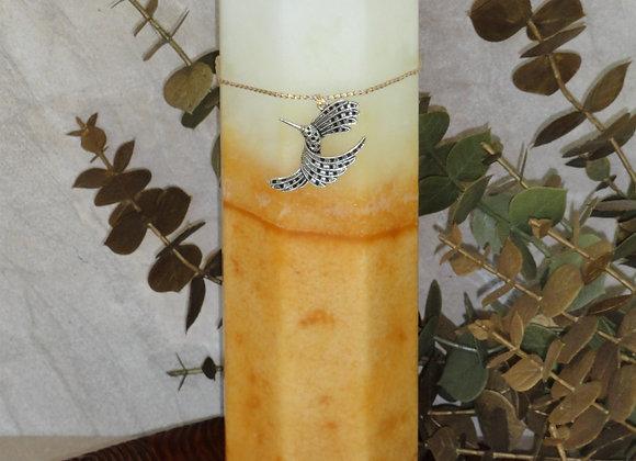 "9"" Honeysuckle Hexagon Pillar Candle"