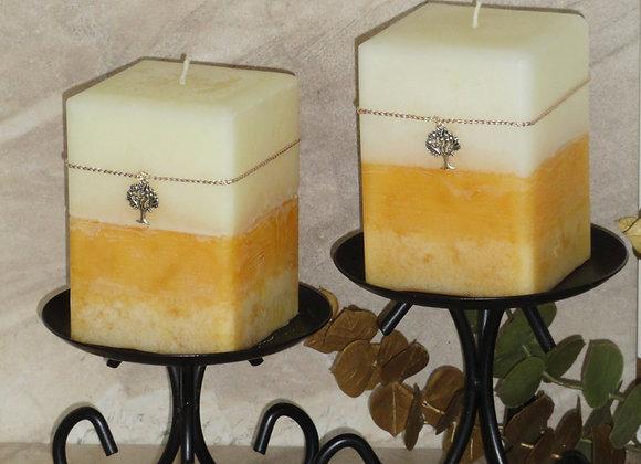 2pc Set Vanilla Cinnamon Square Pillars