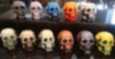 Handmade Scented Skull Pillar Candles