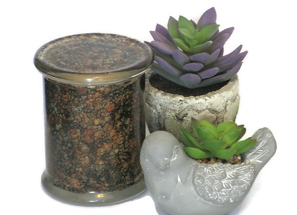 Patchouli Hand Painted Coconut Wax Jar Candle