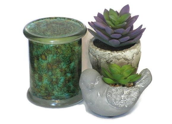 Cedar & Saffron Hand Painted Coconut Wax Jar Candle