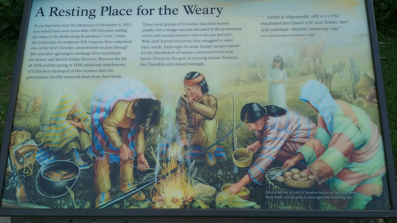 Trail of Tears Sign 2