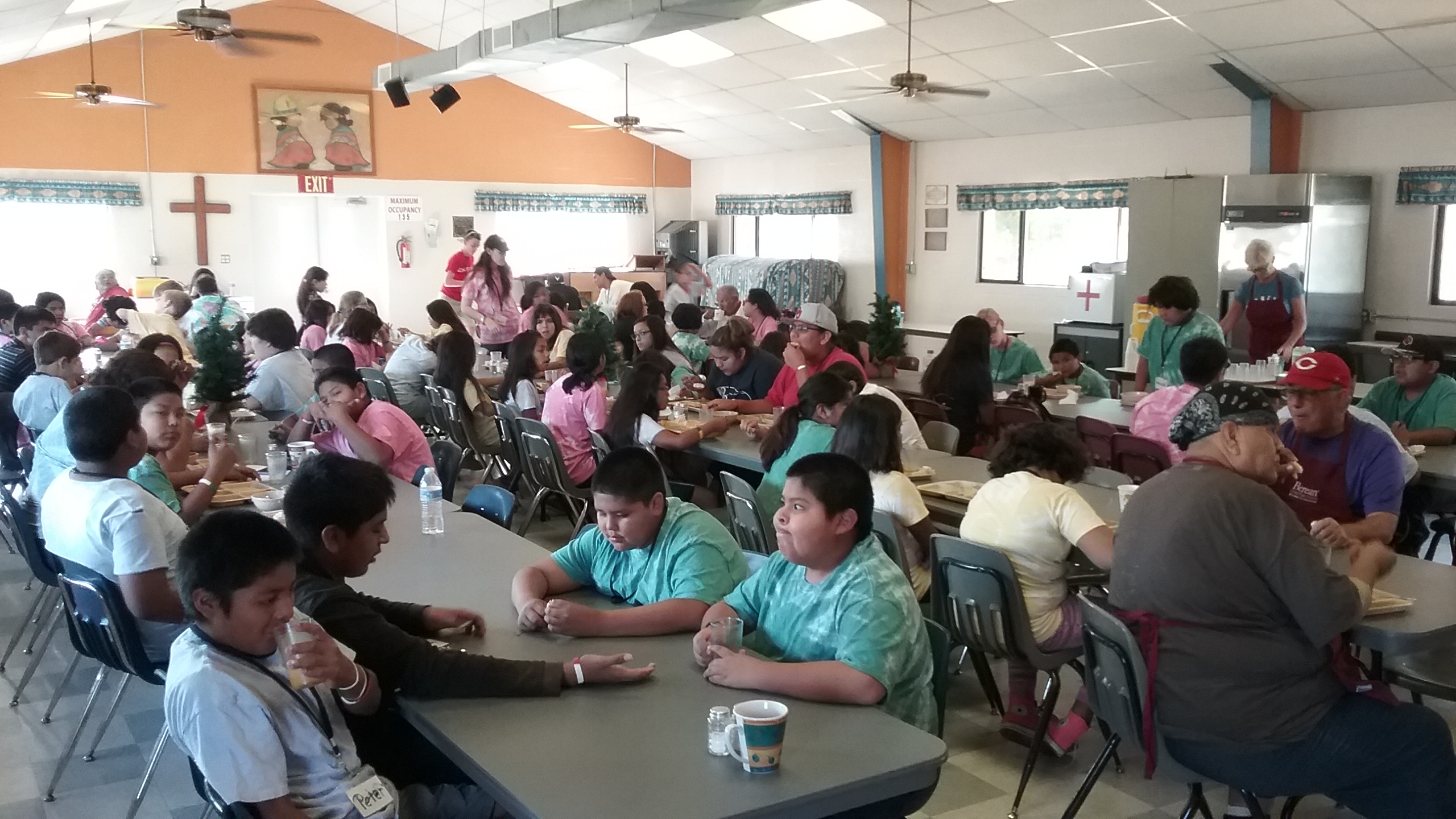 Cafeteria at Mealtime
