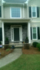 Standard front door entryway with two sidelites and transom
