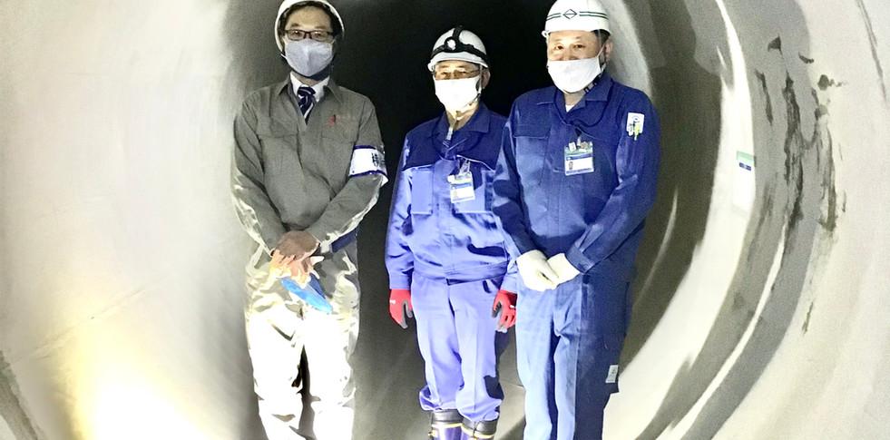 「相沢第二雨水幹線整備事業を視察(2021年1月)