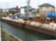 境川の浸水対策工事