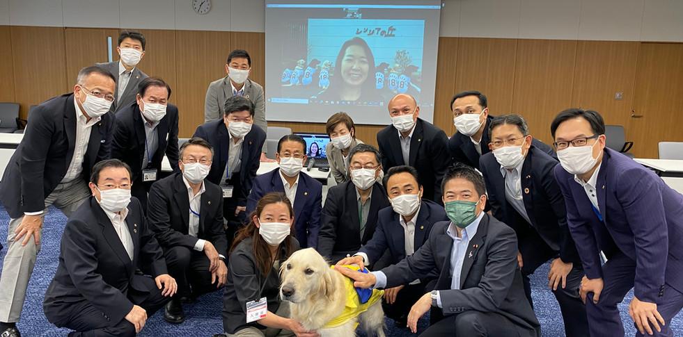 日本介助犬協会の皆さまとともに