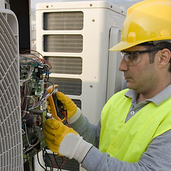 repairing commercial air conditioning system