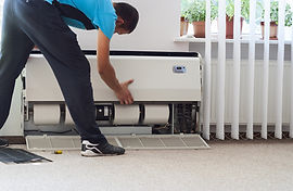 cleaning air conditioner unit