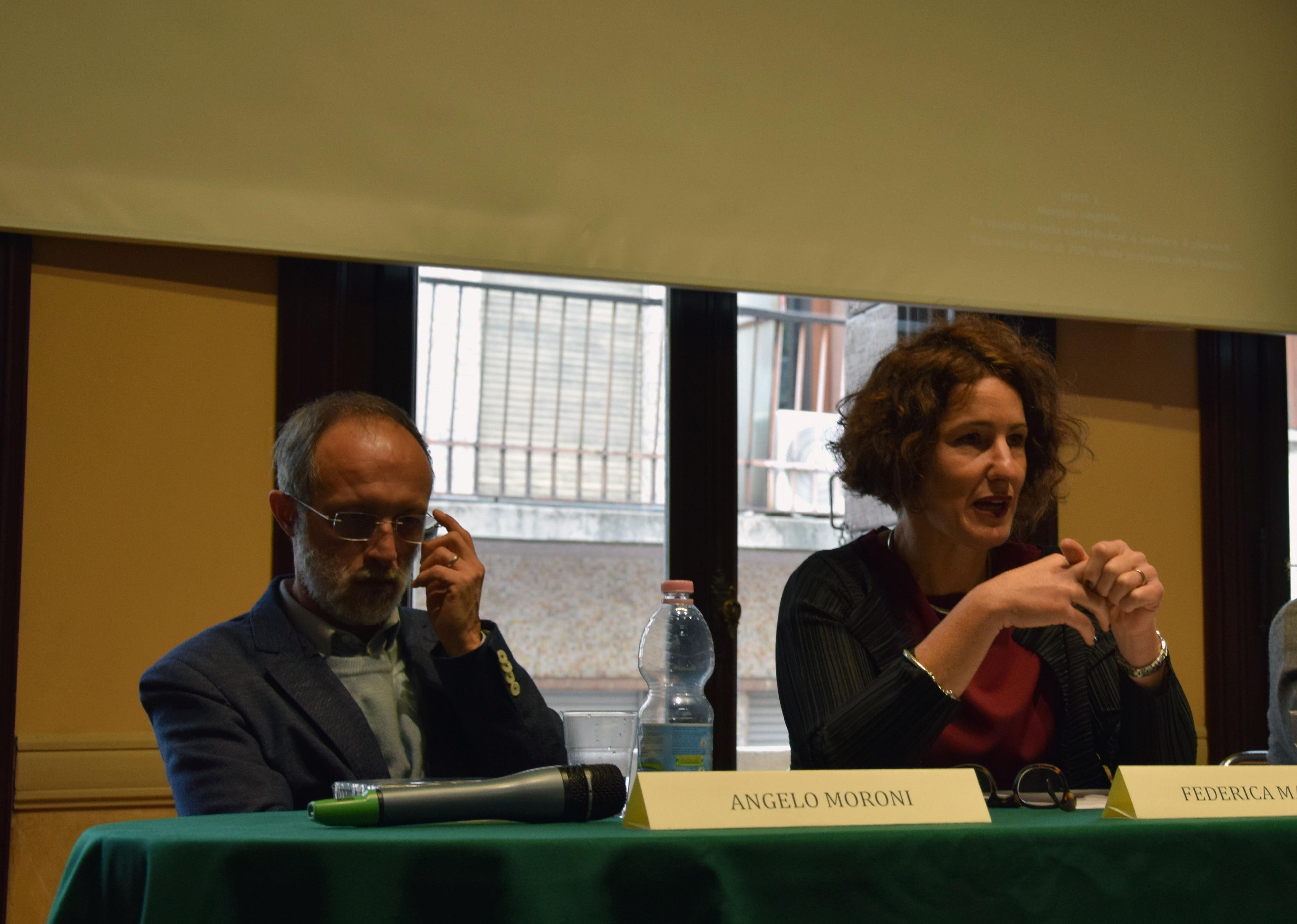 Angelo Moroni e Federica Marabini