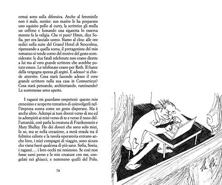 due pagine dal romanzo Mälaren