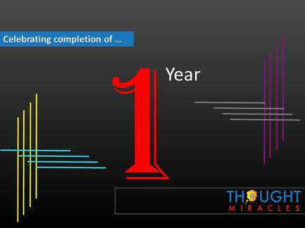 Celebrating 1 year of success