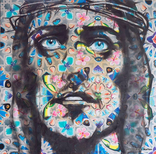 Angel 160x160 cm huile sur toile Georgi Andonov
