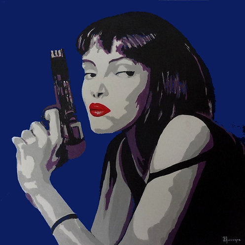 Pop Culture (pulp fiction3) Acrylic résiné 60X60