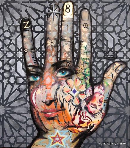 Witch hand  160x140cm huile sur toile