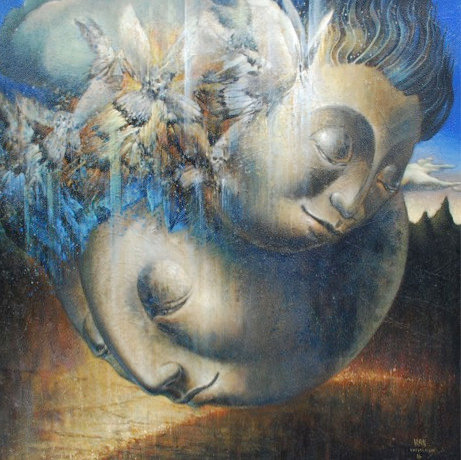 Vasin Suttikasem Size 125*125 cm.Acrylic on canvas