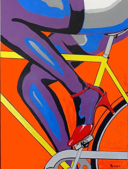 Scarpa cycle    60x80 cm Acrylic