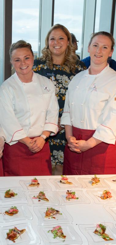 Christine Saling of Tears Foundation & Chef Nancy Alip of Jens Restaurant