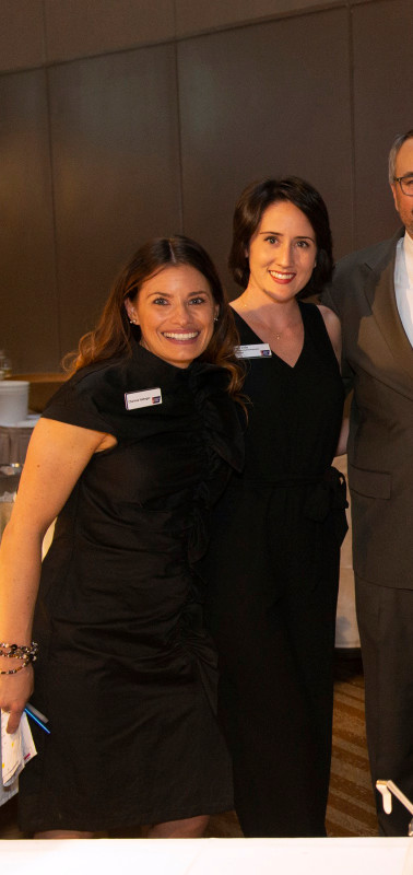 Charissa Habeger and Dani Lisle or American Cancer Society and Chef Alex Perez of Haute Quarter Grill