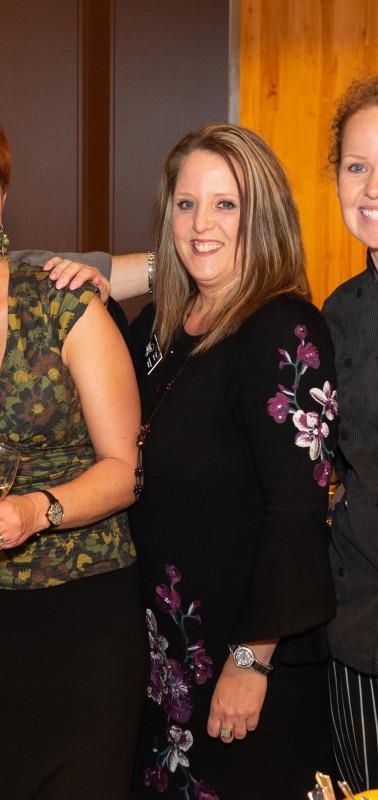 Diana Arthur of Children's Lunchbox and Chef Patrick Hoogerhyde of Bridge Seafood Restaurant