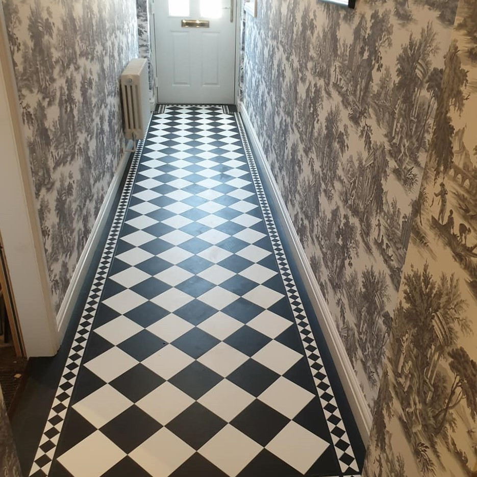 Amtico Signature Back and White Hallway Tile