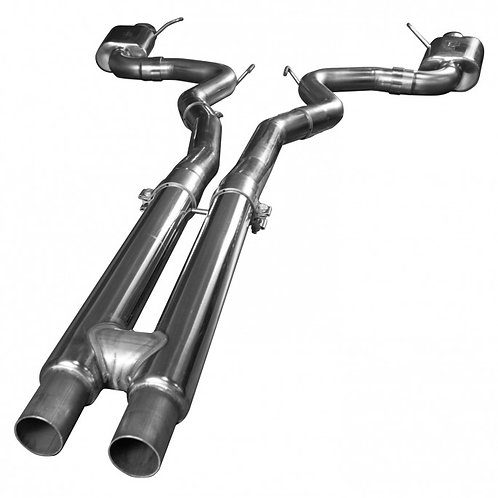 2015+ FORD MUSTANG GT 5.0L OEM TO 3 CAT BACK EXHAUST W H-PIPE & POLISHED TIPS