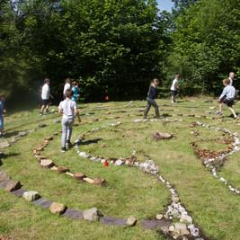 Children in Lochgoilhead Labyrinth