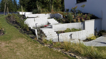 Escalier de jardin paysager