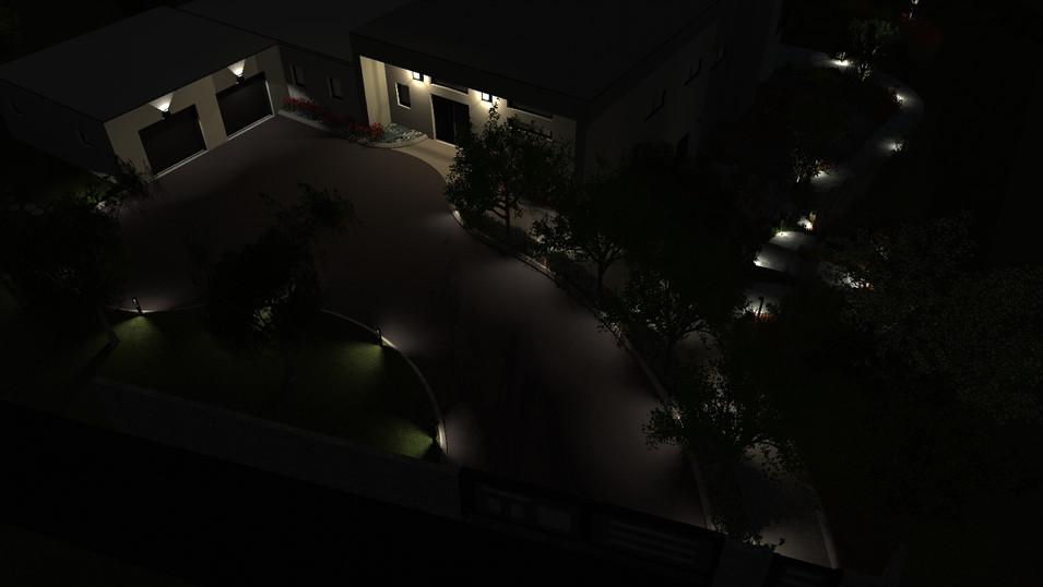 Accès garage de nuit