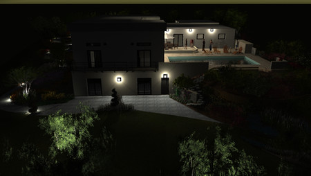 Eclairage de la terrasse