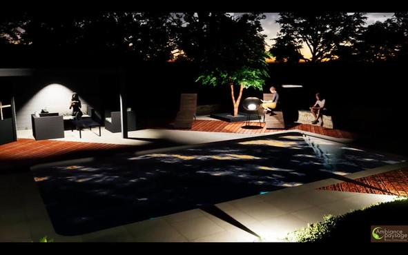 Rénovation de jardin avec piscine