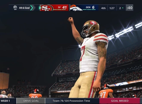 "Kaepernick Returns to Football in ""Madden 21"""