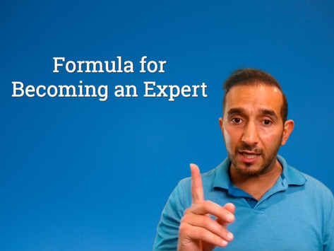 Formula for Becoming an Expert