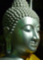 A statue of a steel bhudda